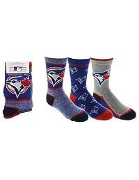 Toronto Blue Jays Boys 3-Pack Socks