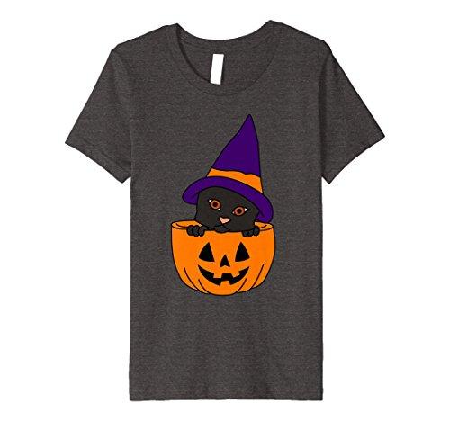 Kids Black Cat Happy Halloween T-Shirt   Cute