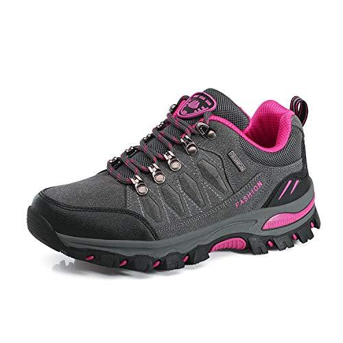 WOWEI Hiking Boots Lace-up Waterproof Non-Slip Outdoor Sports Men Women Mountain Trekking Shoes for All Season Walking…