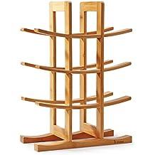 "Mosa Natural Bamboo 12 Bottle Wine Rack (11.8"" X 5.7"" X 16.3""), Wood Wine Rack Countertop Wooden Wine Accessories"