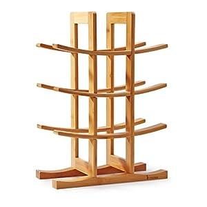 Mosa Natural Bamboo 12 Bottle Wine Rack (11.8″ X 5.7″ X 16.3″), Wood Wine Rack Countertop Wooden Wine Accessories