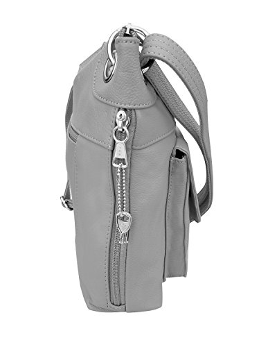Gray Ladies' Gun Concealment Crossbody Bag wfTfA7Pq