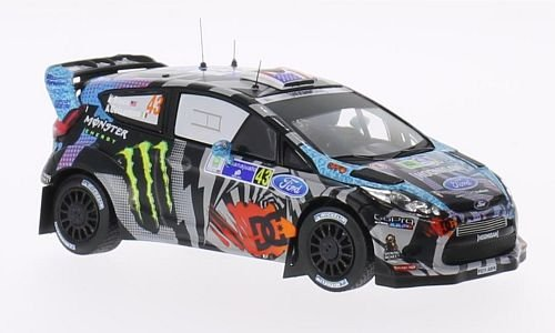 Ford Fiesta RS WRC, No.43, Monster, Rally Mexico , 2013, Model Car, Ready-made, IXO 1:43