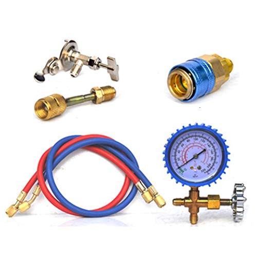 Wind-Susu Manifold Gauge Set R22 Refrigerant Household Air Conditioning Fluoride Adding Tool Kit Car Air Conditioning Freon Common Cool Gas Meter Ac Manifold Gauge Set