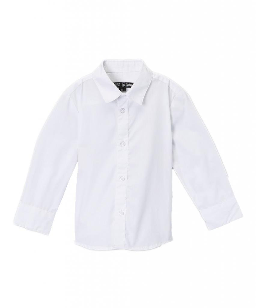 Born to Love - Wedding Baptism Birthday White Button-Up Shirt - Infant, Toddler & Boys 2T by Born to Love (Image #1)