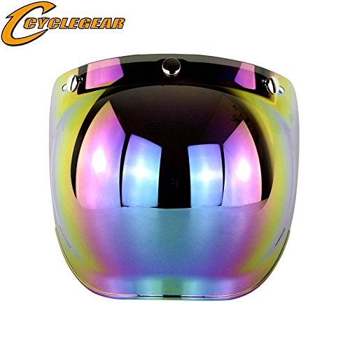 Ocamo Retro - Visera de Protección Solar para Casco de Motocicleta, 3 Botones, Colorido
