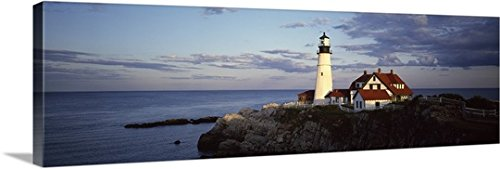 Canvas On Demand Premium Thick-Wrap Canvas Wall Art Print entitled Portland Head Lighthouse Cape Elizabeth - Cape Lighthouse Elizabeth