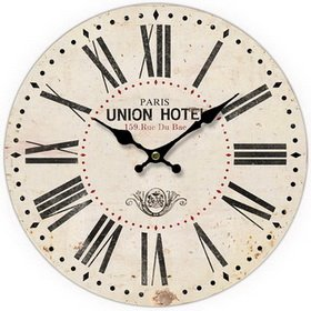 Round White Decorative Clock With Black Roman Numerals 13 x 13 inches Quartz movement