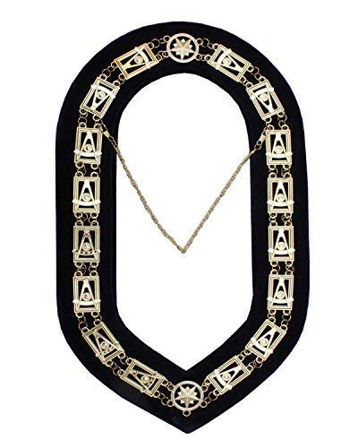 Masonic Regalia Past master Chain Collar Gold/Silver: Amazon