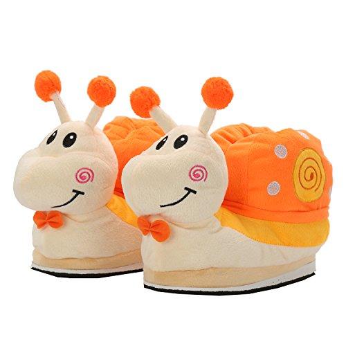 Pantofole Lumache Caldo Mailanda Très Unisex Peluche Ciabatte Chic Piedi Morbido Arancio HfwnqFtxn