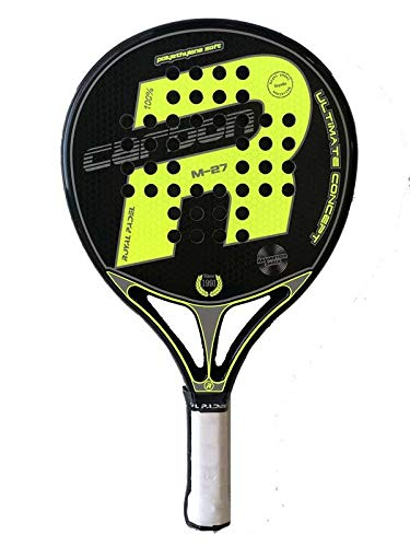 Pala de padel Royal Padel M27 Carbon Amarilla 2019: Amazon ...