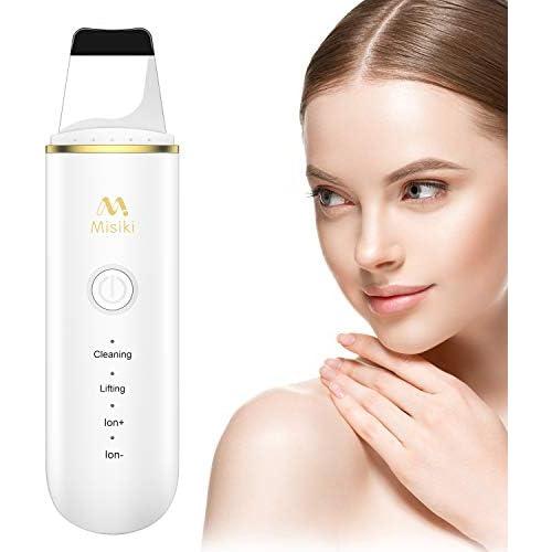 chollos oferta descuentos barato Skin Scrubber Misiki Dispositivo de Limpieza de la Piel Facial Ultrasónico Exfoliador Limpiador de Poros USB 4 Modos Máquina de Anión para Cuidado de la Piel Lifting Dispositivo de Belleza Facial