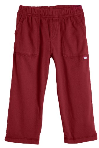 City Threads Little Boys' and Girls' Soft Jersey Tonal Stitch Pant Perfect for Sensitive Skin SPD Sensory Friendly Clothing - Red 6