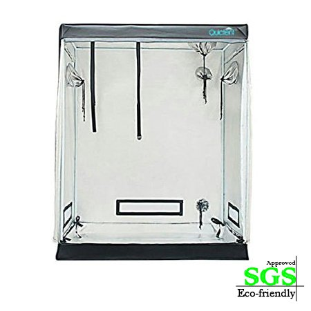 "41AHMriZ75L - Quictent SGS Approved Eco-friendly 48""x48""x78"" Reflective Mylar Hydroponic Grow Tent with Obeservation Window and waterproof Floor Tray for Indoor Plant Growing 4'x4'"