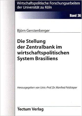 Book Die Stellung der Zentralbank im wirtschaftspolitischen System Brasiliens (German Edition)