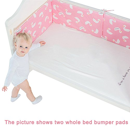 Linda N. Taylor Baby Crib Bumper,Toddler Breathable Cotton Safe Protection Pad Crib Bumper Protector Nursery Bedding Newborn Gift, 120×30cm