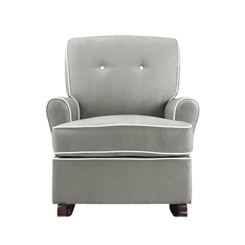 Baby Relax Tinsley Nursery Rocker Chair, Gray (Baby Relax The Tinsley Nursery Glider Chair)