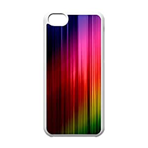Cool iPhone 5C White Case,Abstract Colours Customized Hard Back Case for iPhone 5C iPhone 5Cs ¡ê¡§White 102216¡ê?