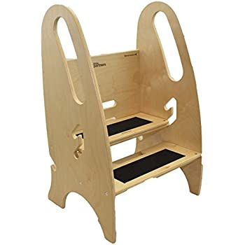 The Growing Step Stool by Little Partners (Natural) u2013 Adjustable Height Nursery Kitchen  sc 1 st  Amazon.com & Amazon.com: Little Colorado Unfinished Wooden Step Stool: Toys u0026 Games islam-shia.org