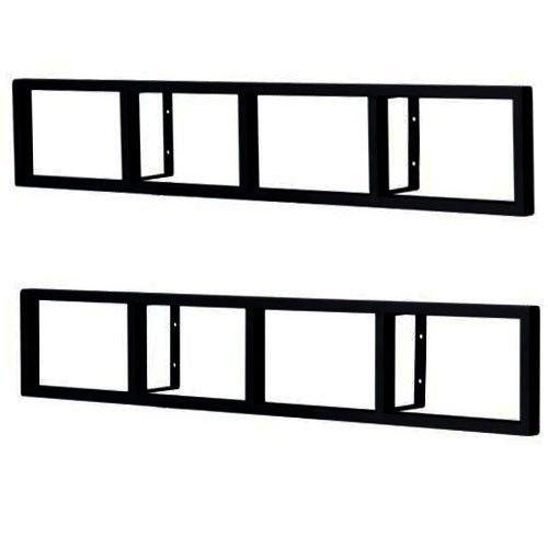 Ikea lerberg cd dvd wall shelf dark grey import it all for Ikea rack mount
