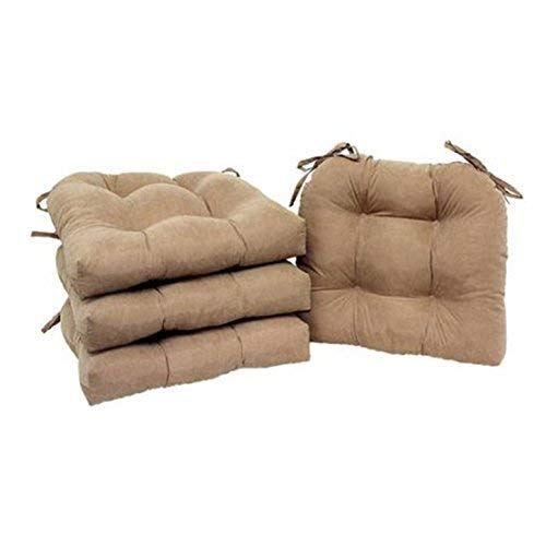 unbrand Set of 4 Chair Cushion Seat Pad Patio Outdoor Garden Dining Furniture with Ties (Brownstone)