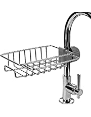 Faucet Drain Rack, Storage Rack, Stainless Steel Faucet Sponge Rack, Sink Organizer for Bathroom and Kitchen Accessories(Upgraded Version)
