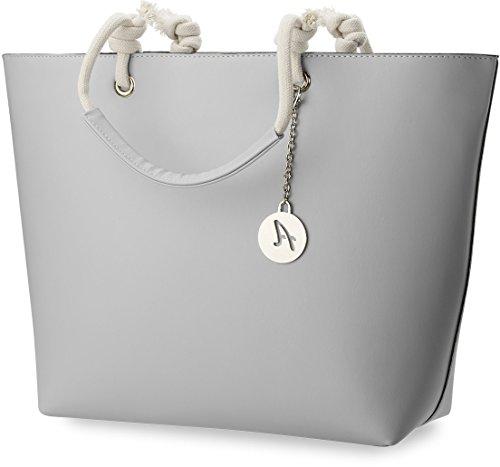 35547b1516612 große Damentasche ABAKUS schöne City – Tasche Shopper grau -spd ...