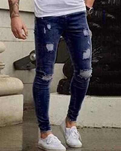 Eleganti Base A Slim Denim Stretch Strappati Di Regolari Da Jeans Pantaloni Ragazzo Dunkelblau In Uomo Fit Matita x64pIZwTq