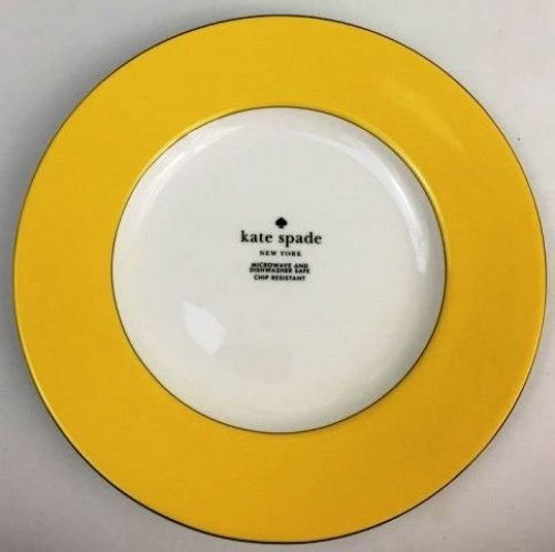 China Vibe Lenox - Kate Spade New York Lenox Rutherford Circle YELLOW Accent Plate 9.2 inch