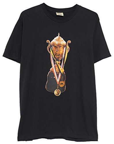 Undrcrwn Champion Cup With Medal Printed T-Shirt Mens Style: UDC100-BLK Size: L