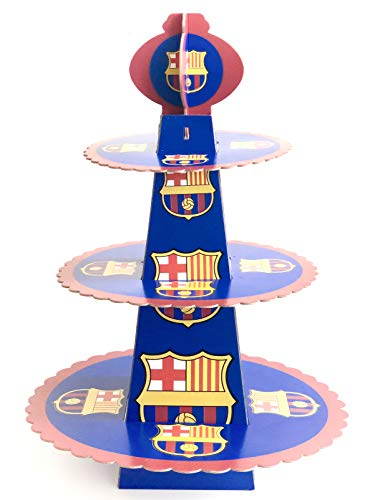 FC Barcelona Birthday Party Cupcake Stand