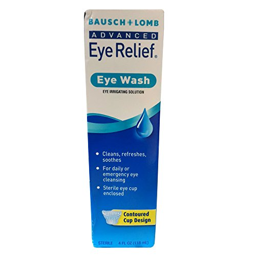 Bausch + Lomb Advanced Eye Relief Wash - 4 oz, Pack of 5 Bausch And Lomb Eye Wash