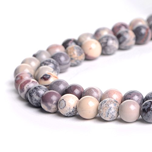 Beads Round Porcelain (Natural 8mm Porcelain Jasper Gemstone Loose Beads Polished Round Crystal Quartz Energy Healing Power Stone Beads For Jewelry Making&DIY)