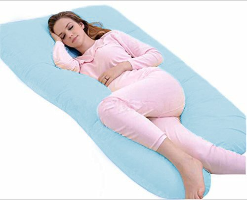 Full Pregnancy Body Pillow with Zipper Removable Cover-U ...
