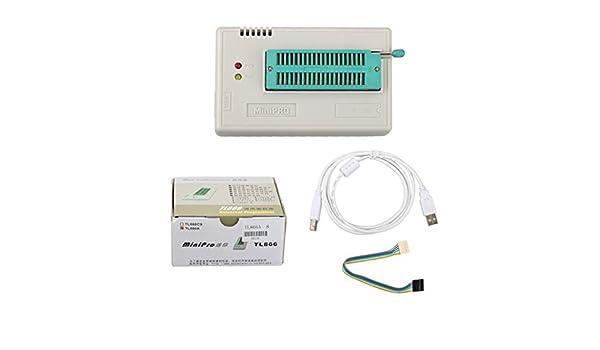 Mini Pro TL866A EEPROM Programador MiniPro TL866A USB Programador Programador Universal TL866A: Amazon.es: Coche y moto