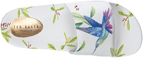 Ted Baker aveline, Sandalias de Punta Descubierta Para Mujer Blanco (Highgrove Hummingbird #ffffff)