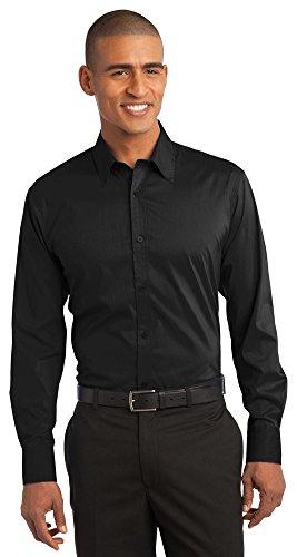 ch Poplin Shirt, XL, Black ()