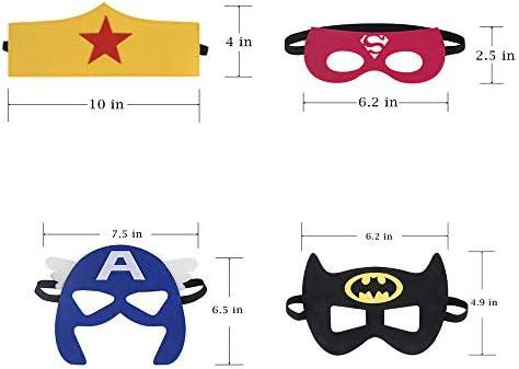 41AHS7eA4gL. AC  - RoterSee 50Pcs Superhero Masks Party Favors for