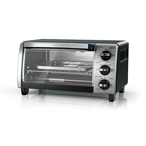 BLACK+DECKER  4-Slice Toaster Oven with Natural Convection, Black, TO1750SB (Best Inexpensive Toaster Oven)