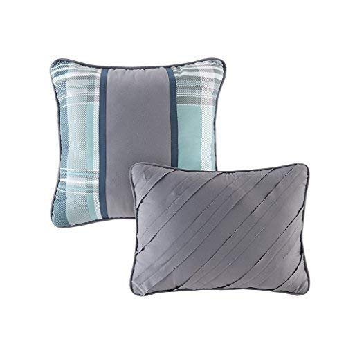 Plaid 4 Piece Bed Sets Ultra Soft Microfiber Bed Comforter Intelligent Design Harold Twin//Twin XL Comforter Set Teen Boy Bedding Teal Blue