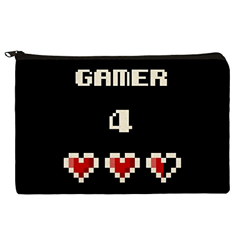 Gamer 4 Life for Pixel Hearts Geek Makeup Cosmetic Bag Organ