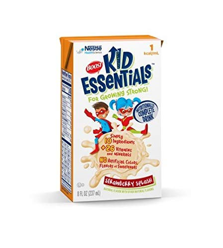 Boost Kid Essentials 1.0 Cal, Strawberry Splash 1 Cal, 8 Ounce, by Nestle – Case of 27