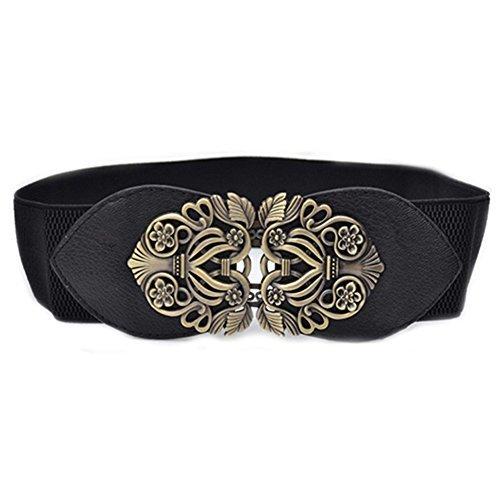 Fashion Belt (Women's Fashion Vintage Wide Elastic Stretch Waist Belt Waistband