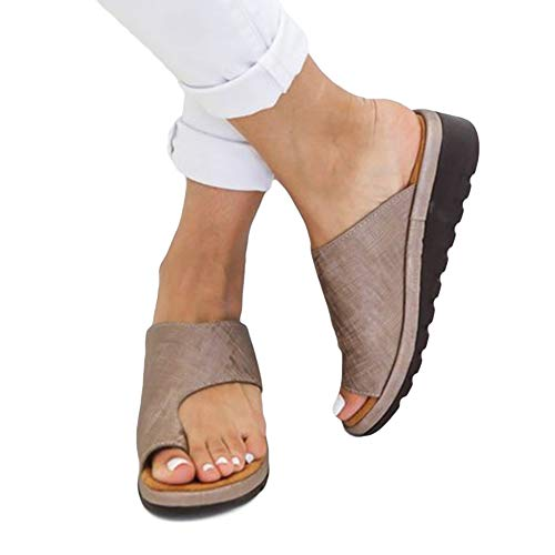 (Aquarius CiCi Womens Fashion Flats Wedges Comfy Platform Sandal Shoes Summer Open Toe Ankle Casual Shoes Roman Slippers Toe Ring Slippers Flip Flops)