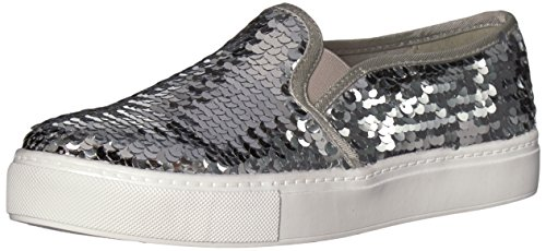 Dirty Laundry by Chinese Laundry Womens Josephine Sneaker Silver Sequins zna2oRyvA
