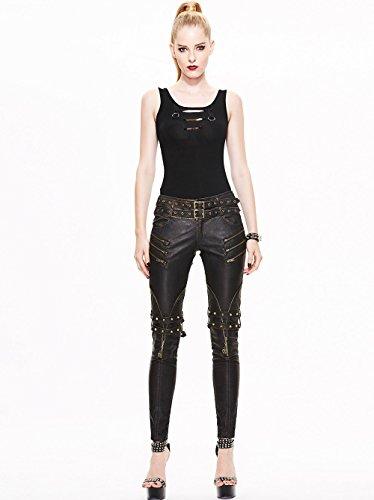 Donne Gotiche Stitching Adattamento Taglie Gambali Fashion Sottile Delle Punk Pantaloni Matita 7 Devil Pantaloni XIqw8