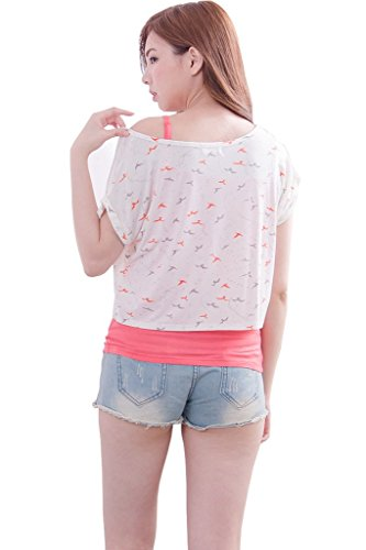 bearsland - T-Shirt à manches longues - Femme -  Rouge - Medium