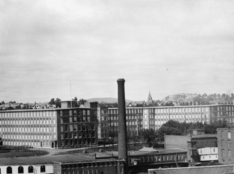 early 1900s photo Cotton mill, Coolidge Mill, Manchester, N.H. Vintage Black e5 (Restaurant Manchester Stock)