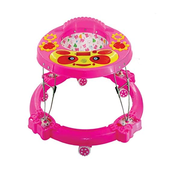 Baby Walker Different Model Rocker with Music and Light Baby Walker Choice Chair for 6 to 12 Months Baby (Pink)
