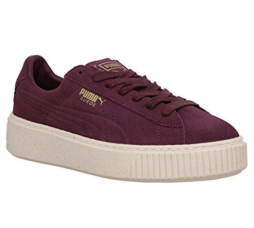 Puma Suede Platform Speckled - Scarpe sportive, colore: Bordeaux, (bordeaux), 38 EU